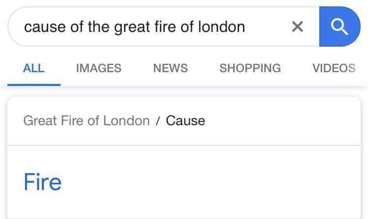Cringe, London, Alexa, Bronx cringe memes Cringe, London, Alexa, Bronx text: cause of the great fire of london ALL IMAGES NEWS SHOPPING VIDEOS Great Fire of London / Cause Fire