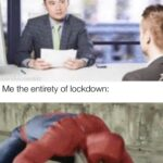 Avengers Memes Thanos, Im Peter text: Interviewer: During lockdown did you develop any new skills or take any online classes to further your career? Me the entirety of lockdown: made with mematic  Thanos, Im Peter