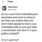depression memes Depression,  text: Tweet Fahad Niazi @FaadiiOO Do you ever find a relatable post anywhere and want to share it but then you realize that you don
