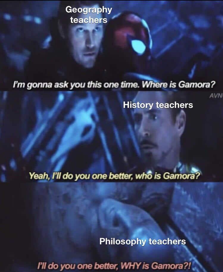 Funny, Sad Gamora, Peter, Gamoras, English, Dark other memes Funny, Sad Gamora, Peter, Gamoras, English, Dark text: Geogrå)hy teache