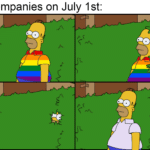 Dank Memes Dank, July text: Companies on July 1st:  Dank, July