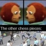 Dank Memes Dank, Visit, OC, Negative, JPEG, Feedback text: Kings in a chess game: The Other chess pieces:  Dank, Visit, OC, Negative, JPEG, Feedback