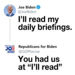 Political Memes Political, Trump, Biden, Republicans, Republican, GOP text: Joe Biden @JoeBiden I