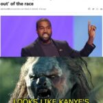 Political Memes Political,  text: Kanye West qualified to be on the ballot in Oklahoma, despite a report this week that