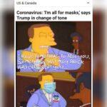 Political Memes Political, Turns text: NEWS US & Canada @NONCQSICAL = Coronavirus:
