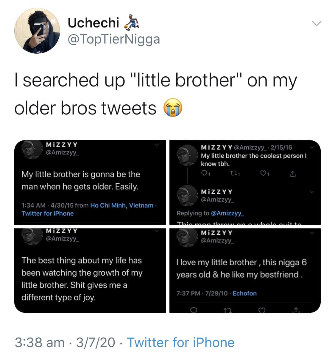 Black, Older Bros Wholesome Memes Black, Older Bros  Jul 2020