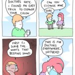 Comics Doctors hate him, Dale, Ghislain Maxwell, COVID, Prince Andrew, Lolita Express text: I