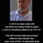 "Dank Memes Dank, Facebook, JPEG, Reddit, Lincoln, Trump text: REMEMBER THIS GUY?? In 2013 he made a deal with Joe Biden and Nancy Pelosi to patent a cure for something refered to as ""CV-1-9.- How did he know what was coming? What are they hiding? Also, nope, none of this, I"