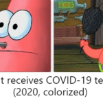 Spongebob Memes Spongebob, Stabbed text: Patient receives COVID-19 test (2020, colorized)  Spongebob, Stabbed