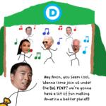 Political memes Politics text: D Hey anon, you Seem cool. Wanna come join us under khe BIG TENT? vqe