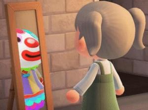 Looking at clown in mirror  Clown meme template