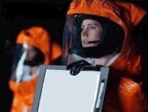 Astronaut holding sign Holding Sign meme template