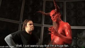 Devil huge fan Opinion meme template