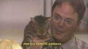 Dwight his name is garbage Opinion meme template