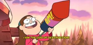 I am the God of destruction Gun meme template