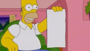 Homer holding list Opinion meme template
