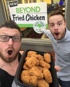Pointing at beyond fried chicken Food meme template