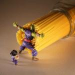 Piccolo blocking Spaghetti Anime meme template blank