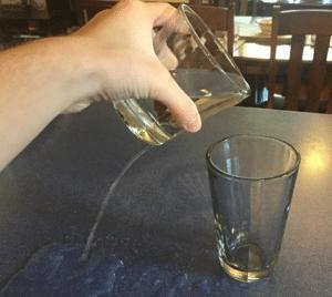 Spilling drink Food meme template