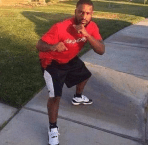 Black man getting ready to fight you Black Twitter meme template