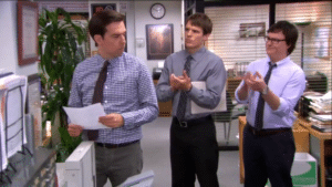 Plop and Clark clapping for Andy Opinion meme template