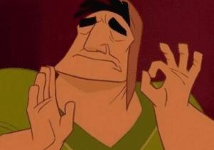 Pacha making ok hand sign Opinion meme template