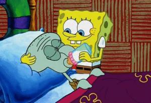 Spongebob feeding Squidward milk Food meme template