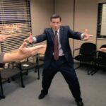 The Office Pointing Finger Guns at Each Other The Office meme template blank  The Office, Pointing, Finger, Guns, Michael Scott