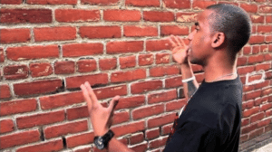 Black man talking to wall Opinion meme template