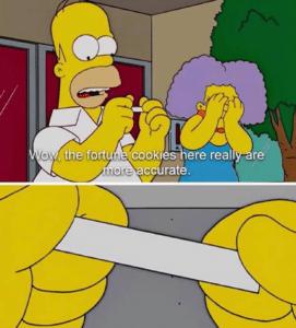 Homer fortune cookie Food meme template
