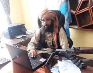 Taliban on laptop Gun meme template