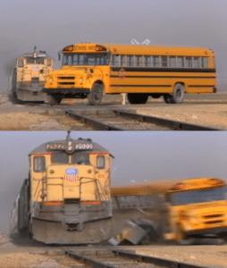 Bus hitting train 4305,4392,4390,4318,4320,4321,4326,4385,4384,4379,4374,4367,4364,4363,4353,4331 popular meme template